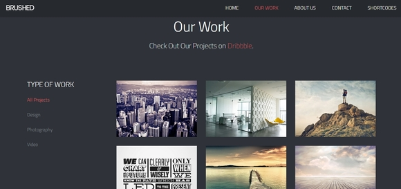 Brushed - Best Free Bootstrap Templates 2014