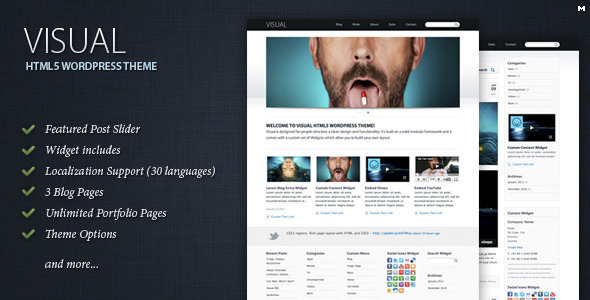 Collection of Best HTML5 WordPress Themes of 2012 1