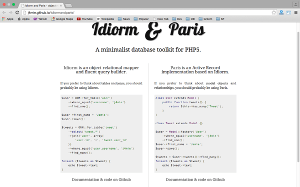 idiormandparis - Userful PHP libraries for developers