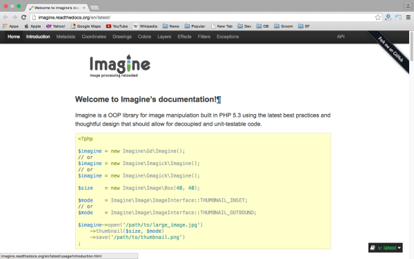 imagine - Userful PHP libraries for developers