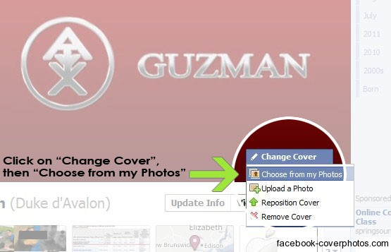 How to change or replace a cover on your facebook profile