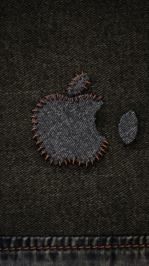 HD Abstract iPhone 5 Wallpaper Apple on fabric