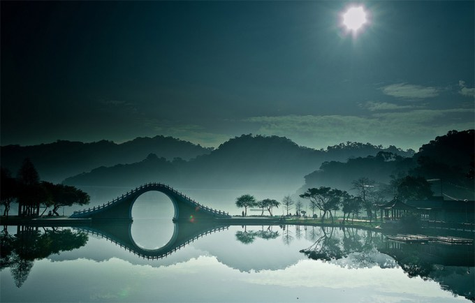 Bridge Over calm Waters in China