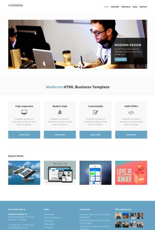 50 free responsive html5 and css3 templates free bootstrap template for corporate moderna cheaphphosting Gallery