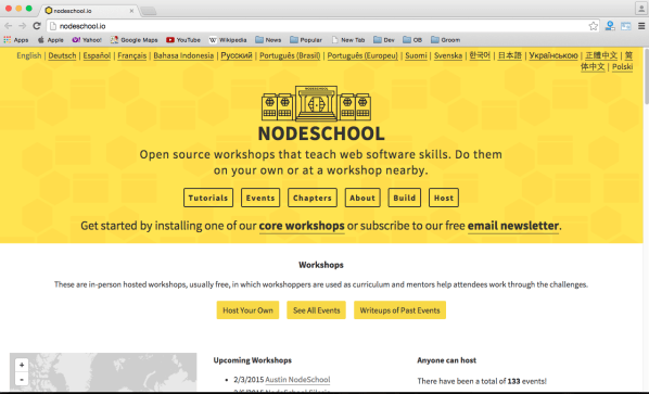 best online resources for learning programming - nodeschool