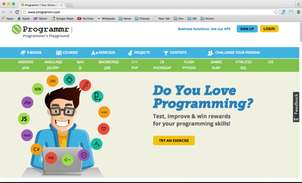 best online resources for learning programming - programmr