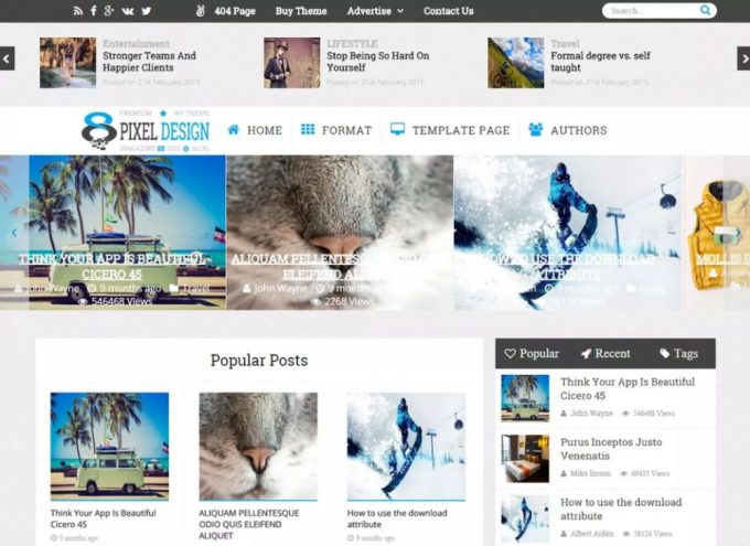ClesarMedia - Free Magazine WordPress Themes