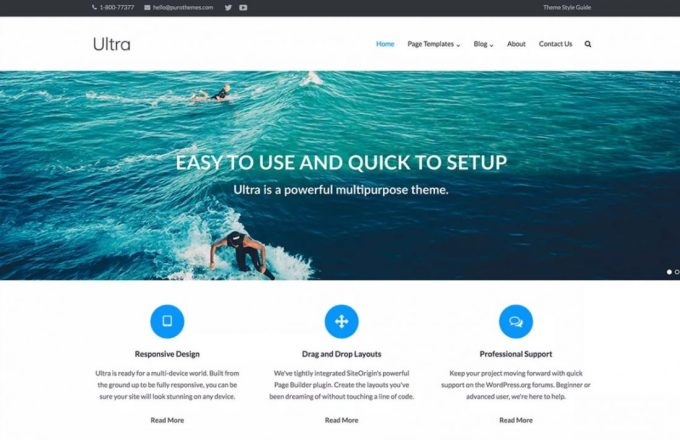 Ultra - Responsive WordPress Themes