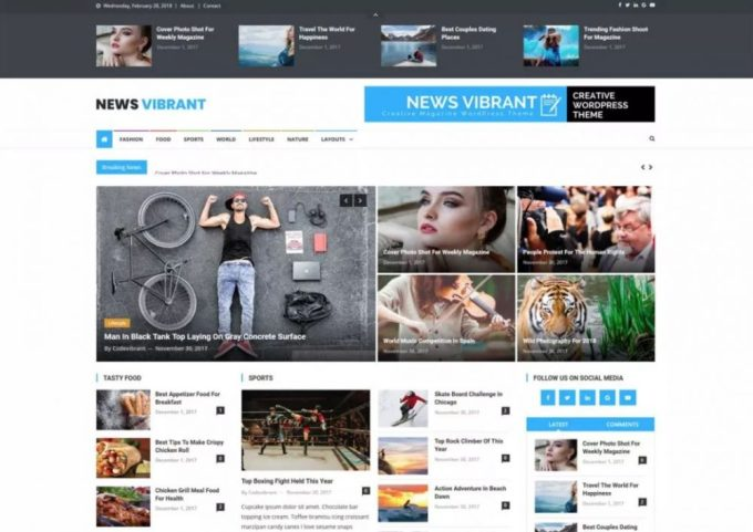 News Vibrant Magazine Theme