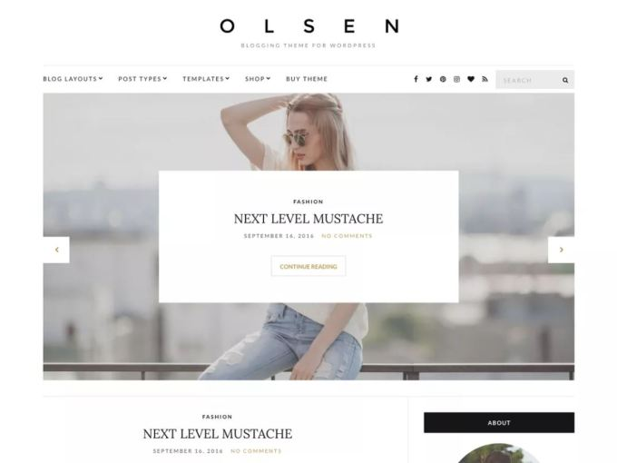 Olsen - Responsive WordPress Theme