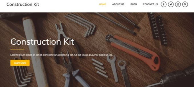 Free WordPress Construction theme