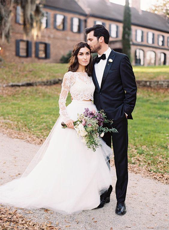 vestidos de novias separates o de dos piezas