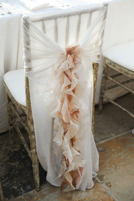 Cómo decorar las sillas de la boda