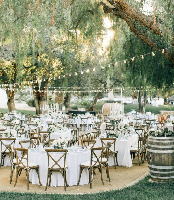 Decoración de bodas al aire libre