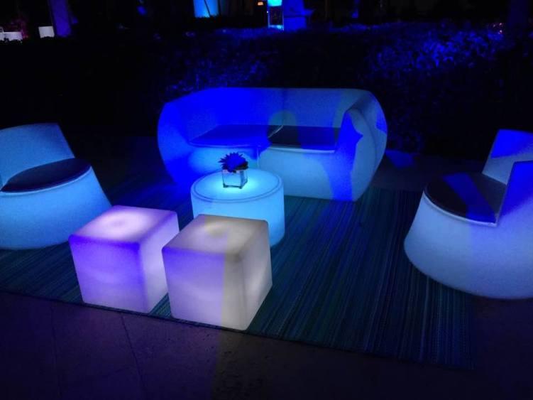 Mesas iluminadas para bodas
