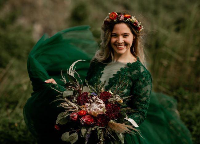 ramos para bodas en otoño