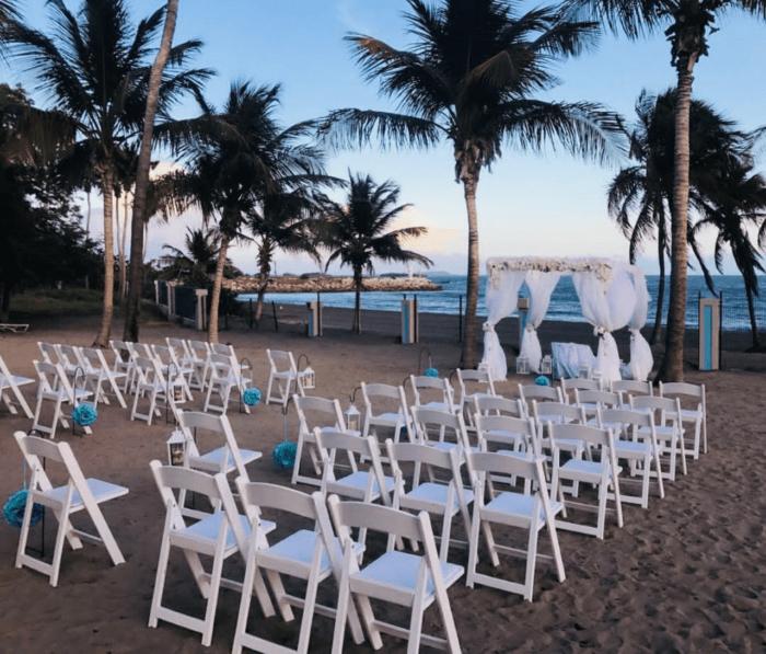 boda en la arena