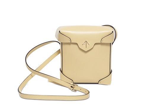 Manu Atelier mini Pristine bag in yellow