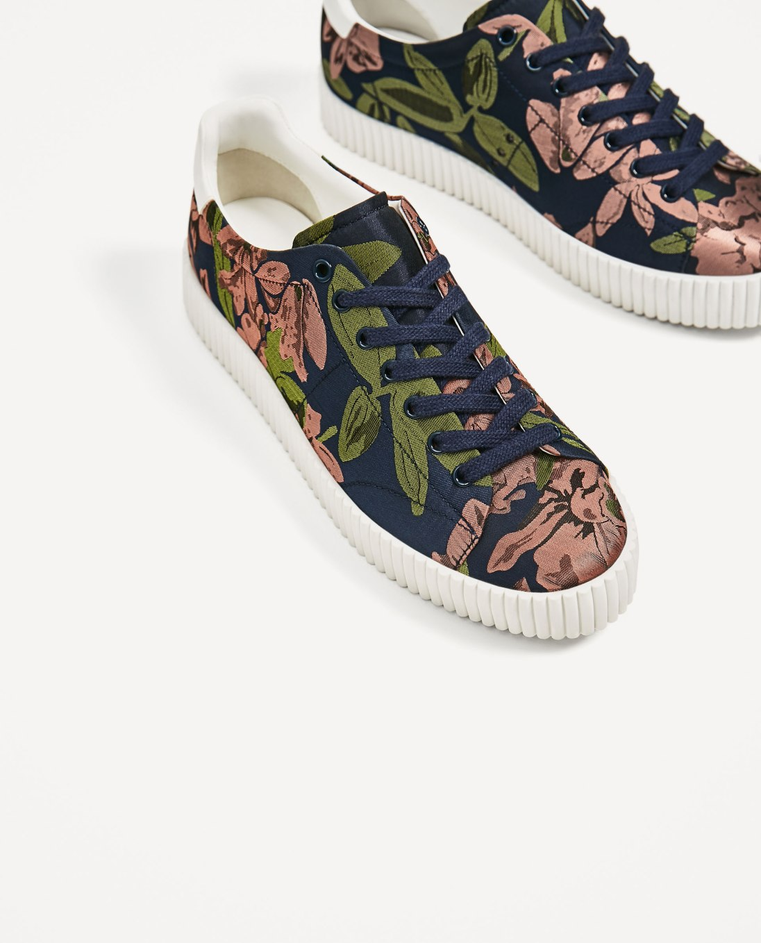Zara floral trainers