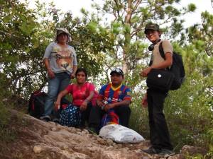 The COPINH group – Maryeli, Maria, Agostín and Selvin