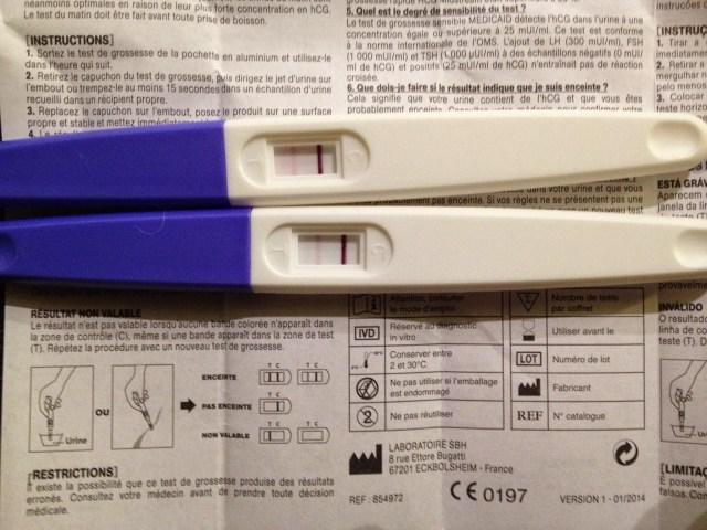 test de grossesse positif tôt et test sanguin HCG