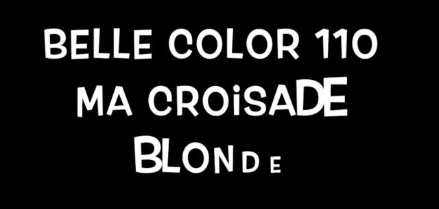 coloration blonde seule à la maison belle color 110