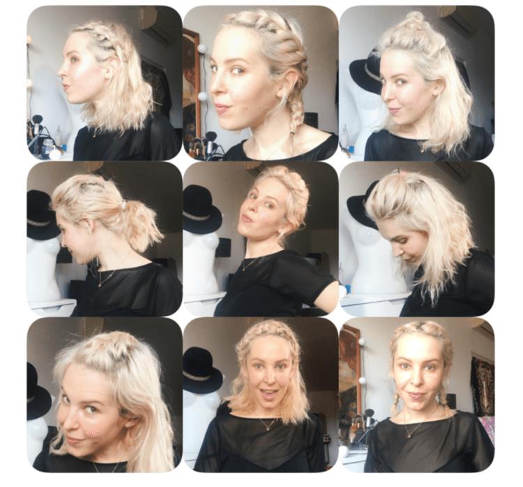 idées de coiffures faciles sur cheveux courts au carré