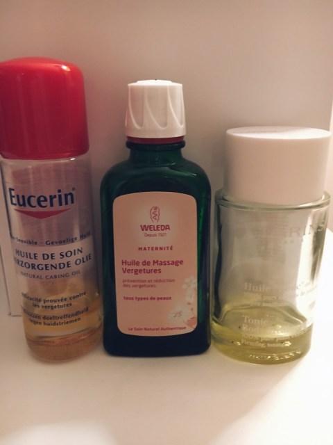 mes soins huiles anti vergetures et mes résultats aprés grossesse