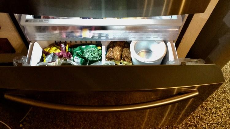 tiroir du frigo américain SAMSUNG RF24HSESBSR tiroir du congélateur