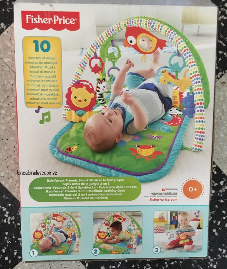 tapis d'eveil bébé 3 en 1 Fisher price tapis amis de la jungle