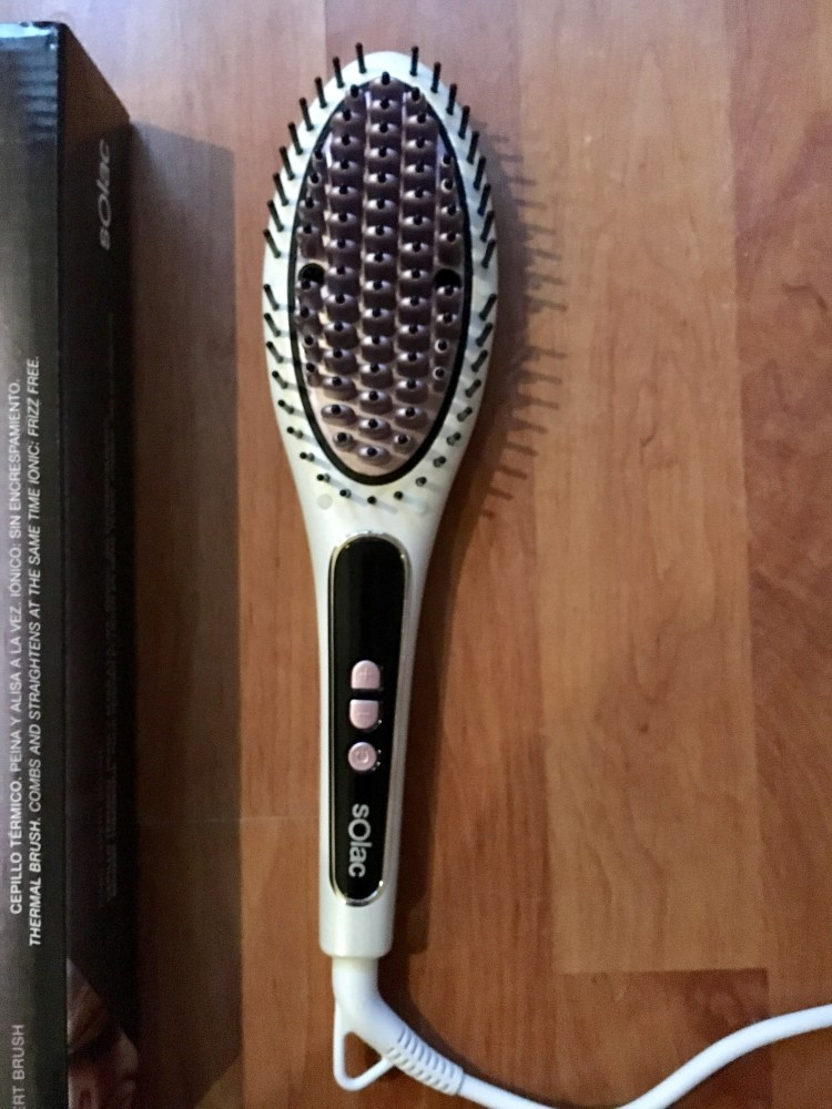 brosse lissante chauffante brushing solac