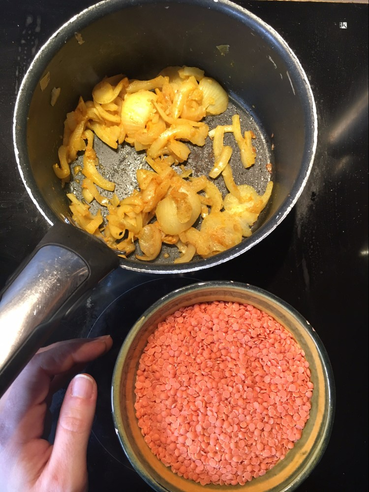 recette végétalienne dalhs lentilles corail lait de coco