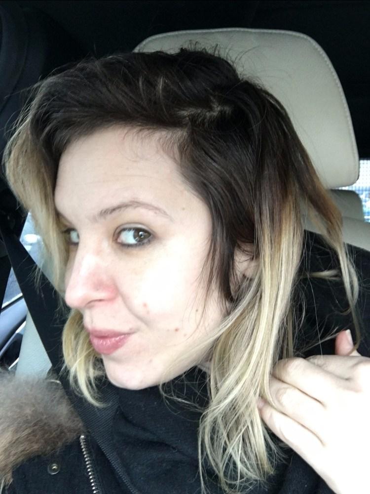 racines des mèches, ombré hair sur cheveux méchés