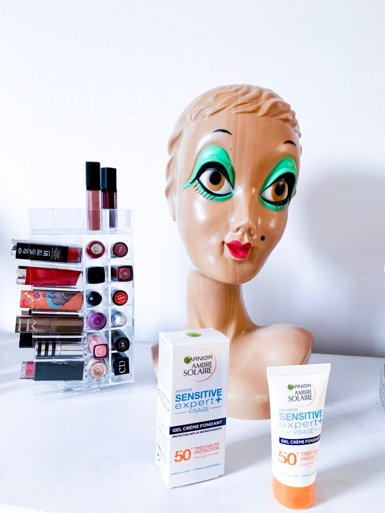 LeGel Crème fondant sensitive expert visage 50 + Garnier Ambre Solaire