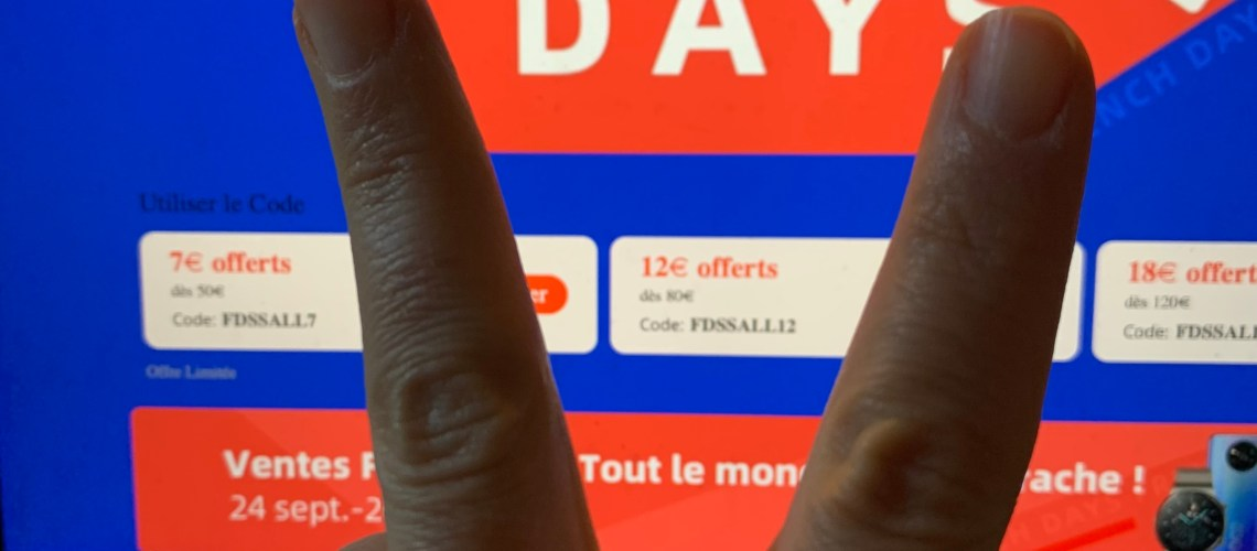 french days Aliexpress code réduction