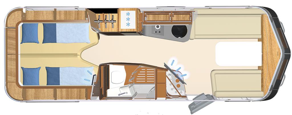 Caravanas de doble eje Eriba Touring 9