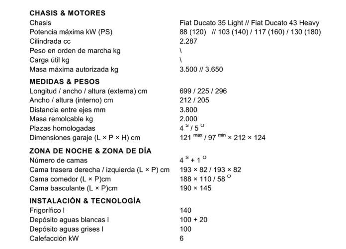 autocaravana Laika Ecovip H3119 encaravana datos