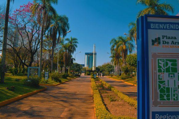 Plaza de Armas - Vista Principal (Mcal. Estigarribia e_ 14 de Mayo _ Tomas R. Pereira)