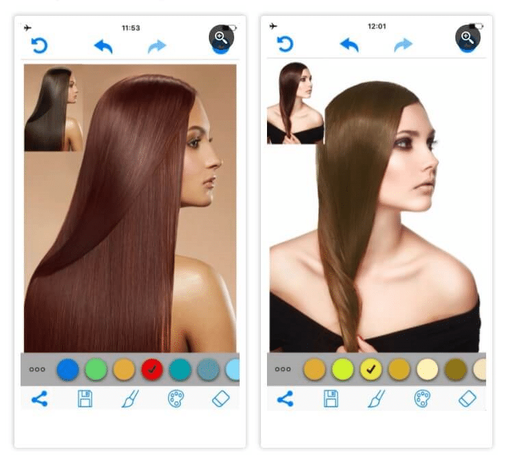 Hair Color Changer App - App to change hair color