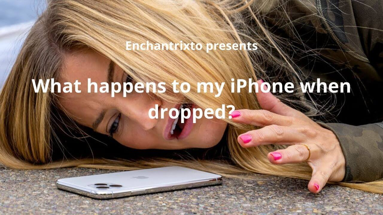 dropping iPhone on floor