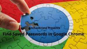 Find saved passwords in Google Chrome