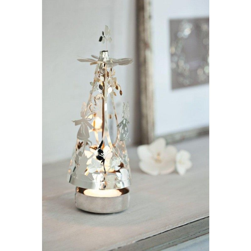 Silver Fairy Go Round Jette Fr Lich Spinning Tea Light