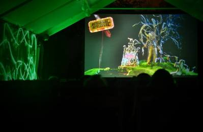 enchanted cinema halloween screenings - beetlejuice screen cambridge blue
