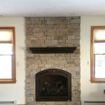 gas fireplace rip out and reinstall by enchanted fireside