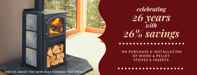 save 26% on wood and pellet stoves and inserts 2021 federal tax credit