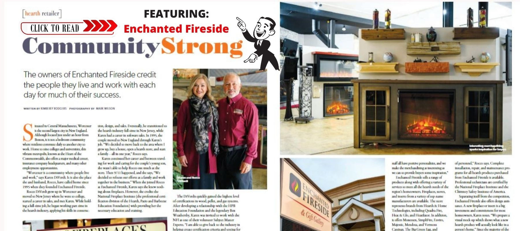 Enchanted Fireside featured article in issue of Patio and Hearth Products Report