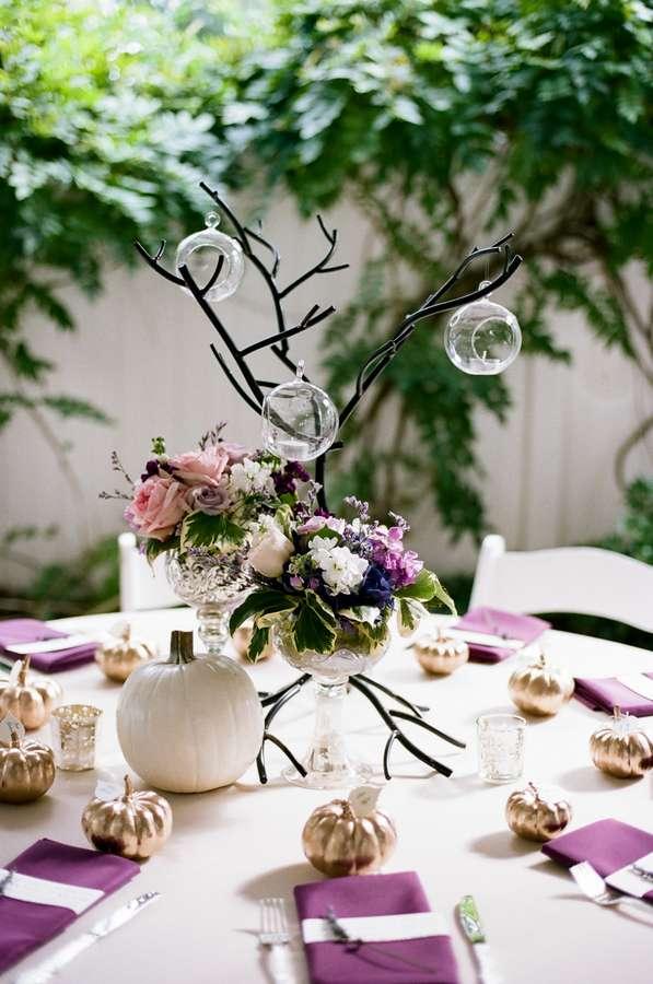 Enchanted Florist Purple And Gold Garden Wedding Jenna Henderson Photographer 3