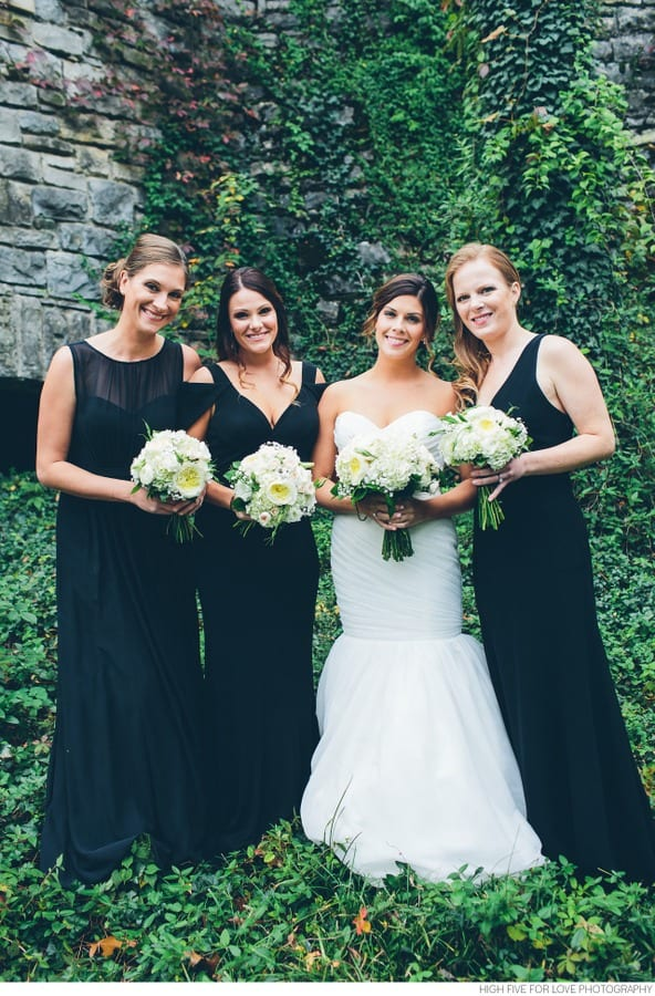 Enchanted Florist, Black and White Wedding at Cheekwood Nashville, HFFL (11)