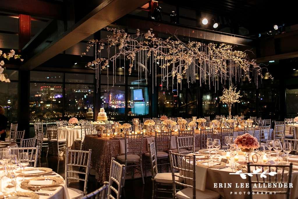 glam rose gold new years eve wedding by enchanted florist tn www.enchantedfloristtn.com