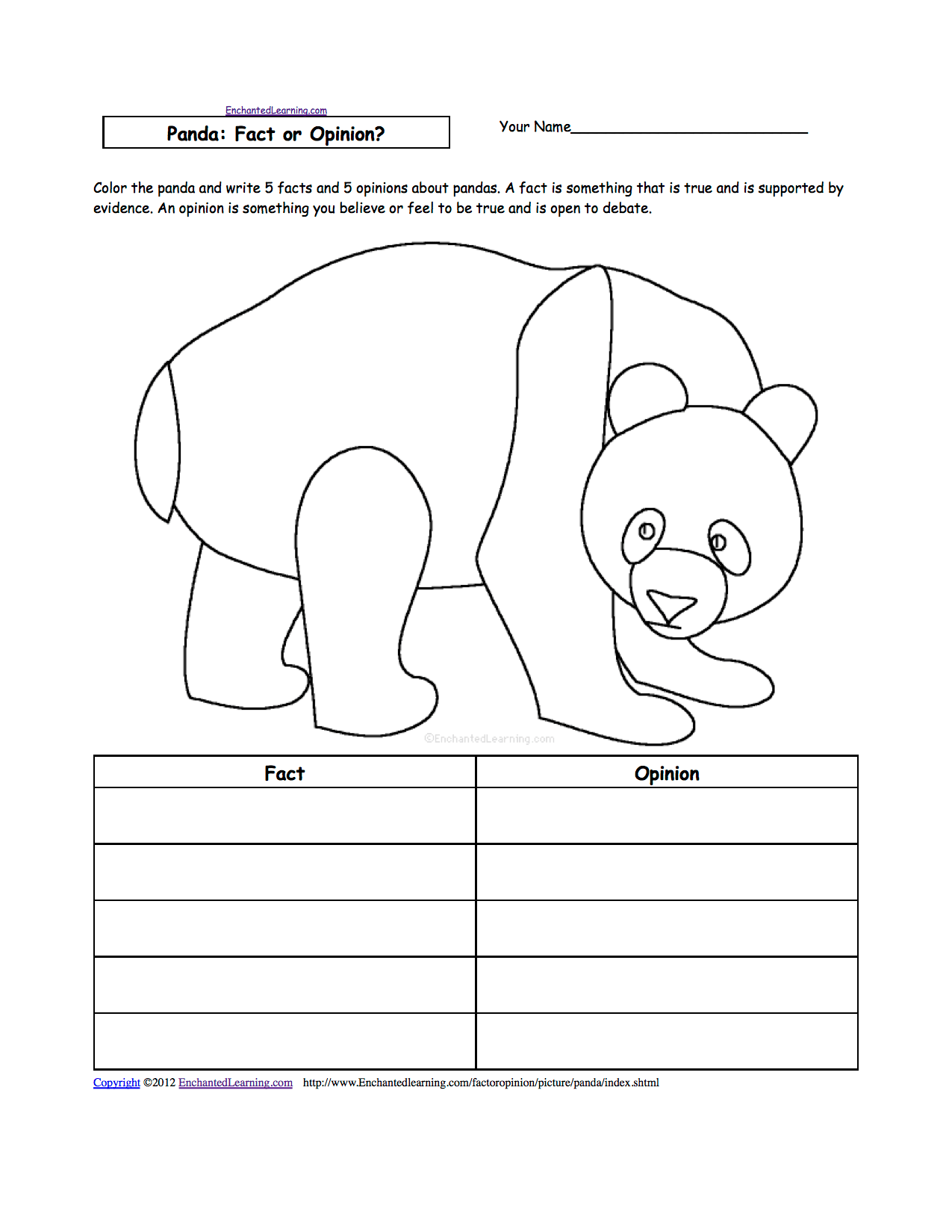 Fact Or Opinion Worksheets To Print